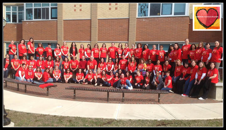 Wear Red For Public Education T-Shirt Photo