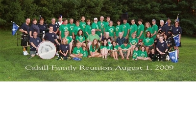 Cahill Clan With Celtic Thunder T-Shirt Photo