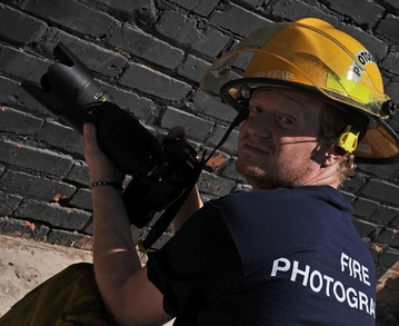 Fire Photographer T-Shirt Photo