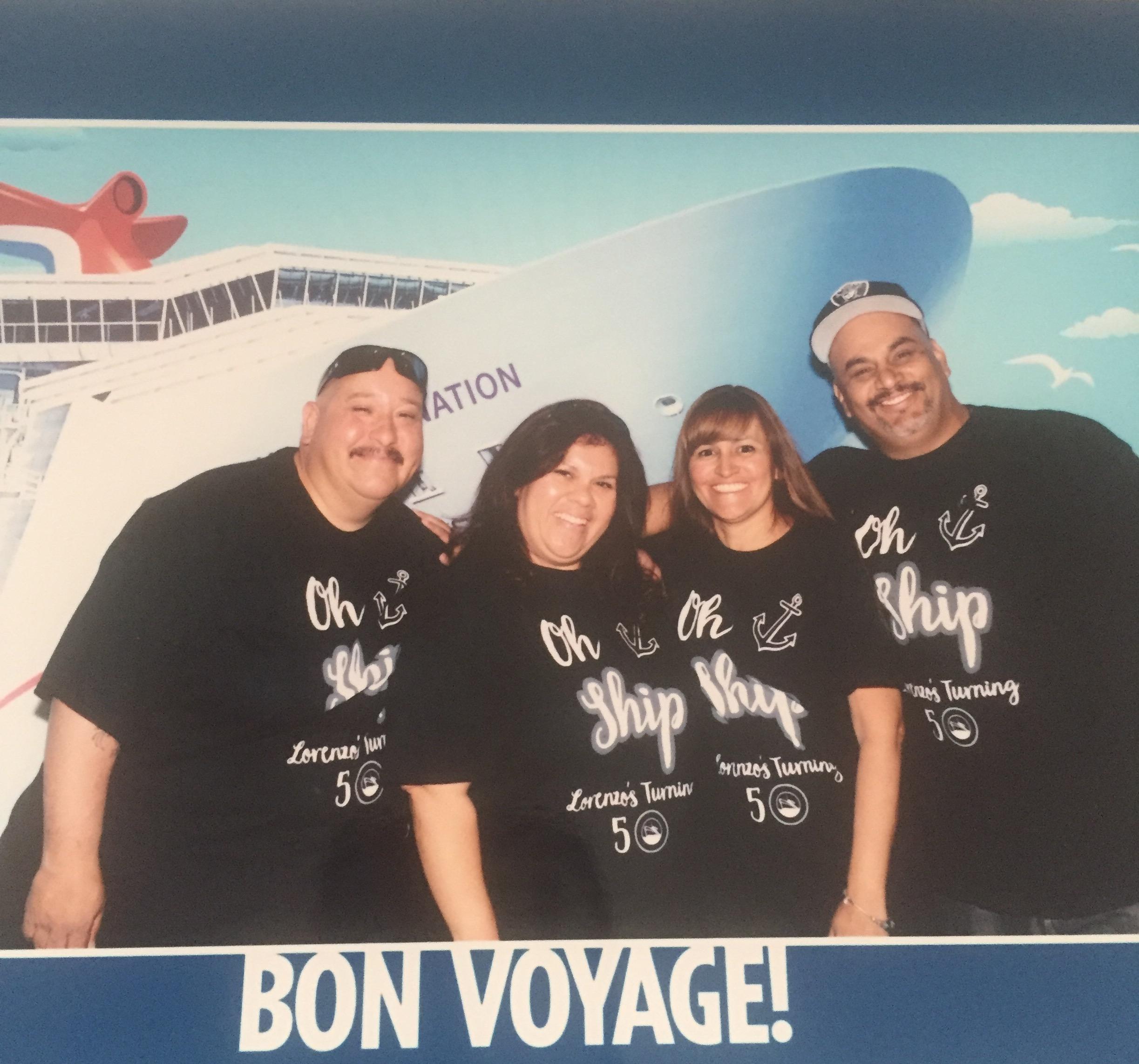 Renzos 50th Birthday Cruise T Shirt Photo