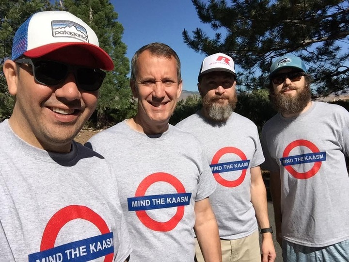 One Third Of Team Mind The Kaasm T-Shirt Photo