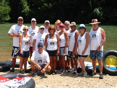 York Family Current River Float Trip 2009 T-Shirt Photo
