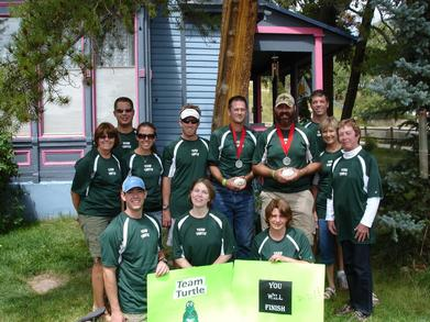 Team Turtle At The Lt100 T-Shirt Photo