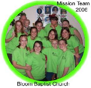 Bloom Baptist Mission Team 2006 T-Shirt Photo