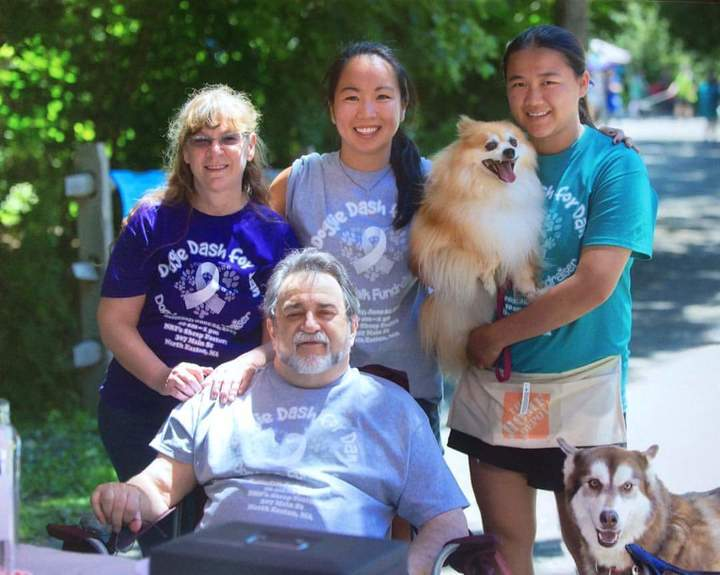 Dan And His Family (Recipient Of Double Lung Transplant) T-Shirt Photo