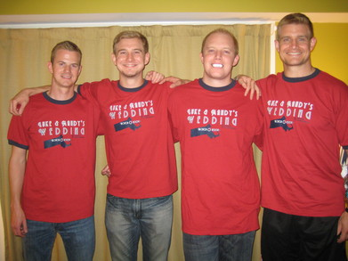 The Groom And His Men T-Shirt Photo