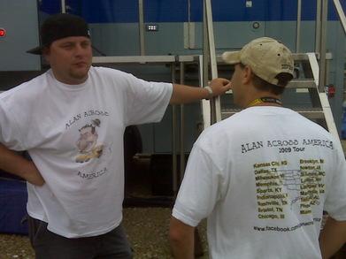 Alan Across America T-Shirt Photo