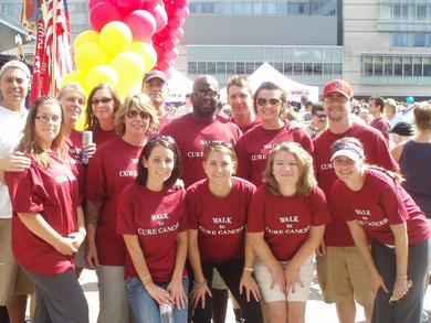 The Hope Walkers Posing Before The Walk To Cure Cancer T-Shirt Photo