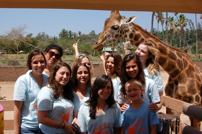The Westchester Lariats Visit San Diego And Feed Giraffes!!! T-Shirt Photo