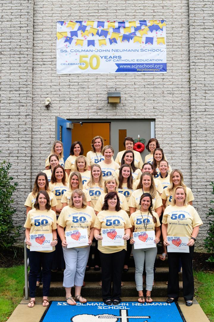 Ss. Colman John Neumann School 50th Anniversary  T-Shirt Photo