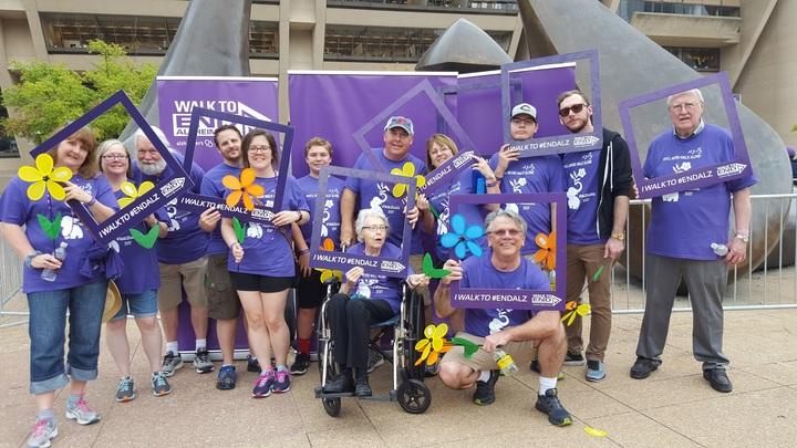 Team Gram #Walk2 End Alz T-Shirt Photo