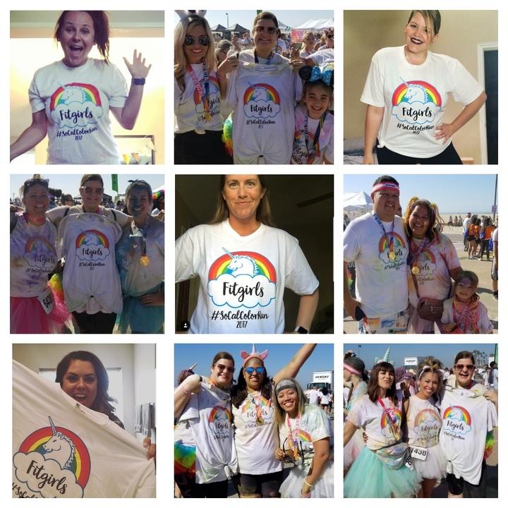 Socal Fitgirls Color Run T-Shirt Photo
