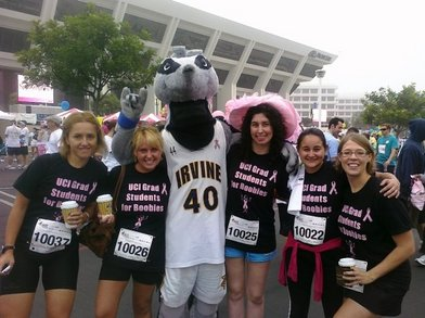 Uci Grad Students At The 'susan G. Komen Race For The Cure' T-Shirt Photo