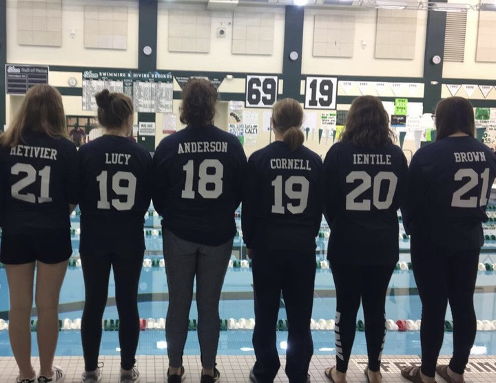 Queensbury's Swimmin' Women Dominate At Sectionals T-Shirt Photo
