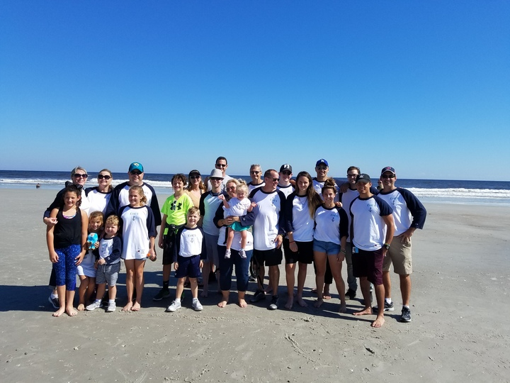 Evie's Anchors   2017 Buddy Walk   Jacksonville Beach T-Shirt Photo