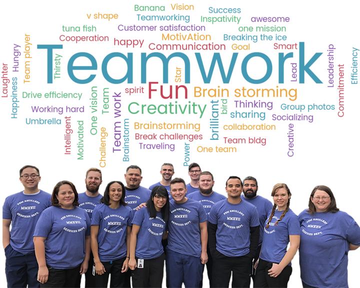 Pbm Lab's 2017 Ancillary Services Team Group T-Shirt Photo