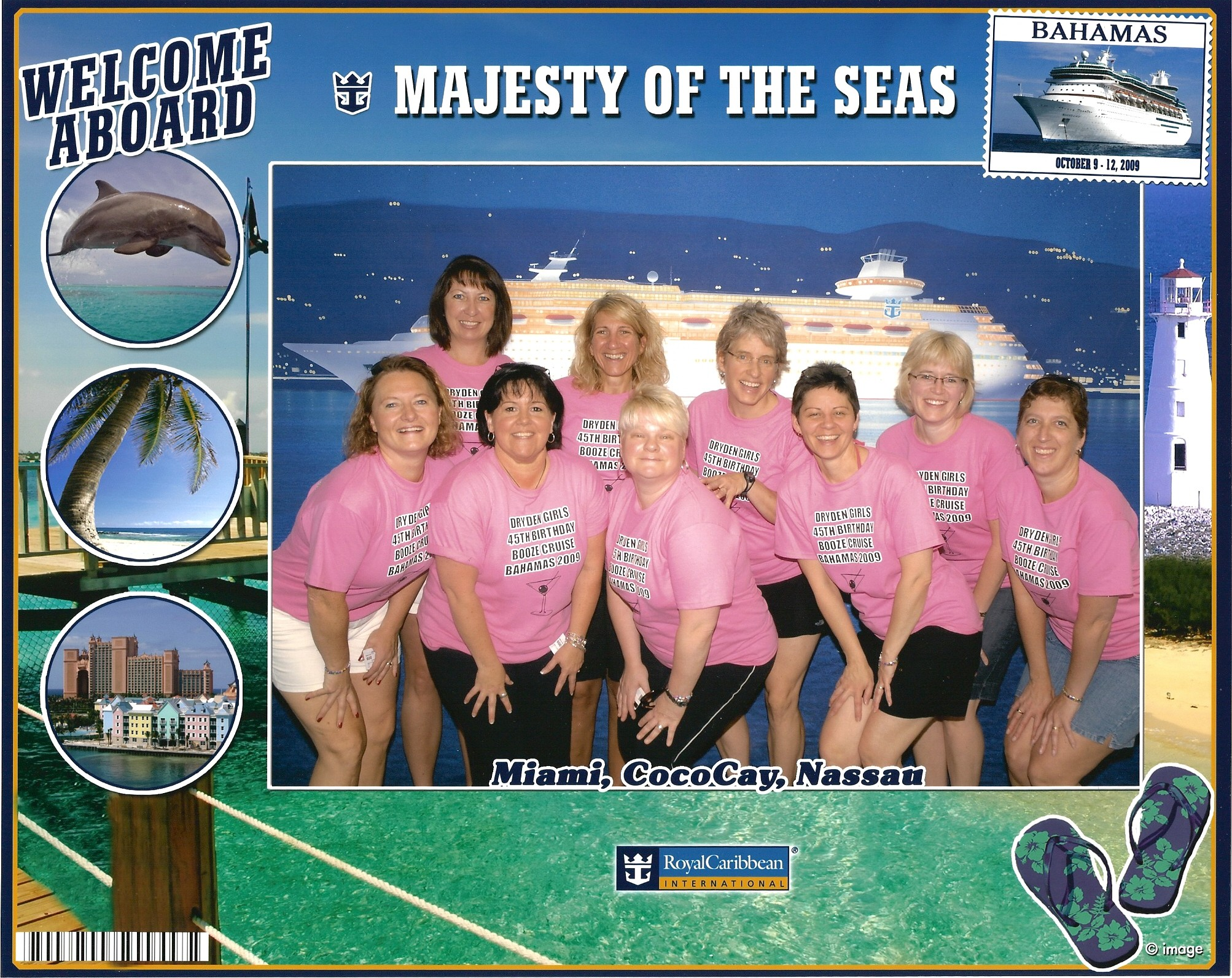 Dryden Girls 45 Th Birthday Booze Cruise T Shirt Photo