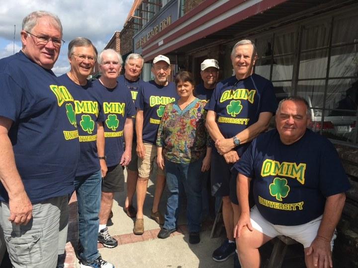 Old Men In Morning  ( Omim) University T-Shirt Photo