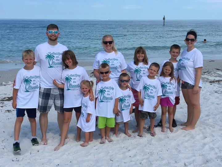 Blended Family Beach Bliss T-Shirt Photo