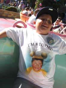 Miles At Disneyland T-Shirt Photo