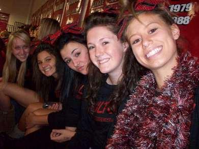 Jv Cheerleaders At Preprally T-Shirt Photo