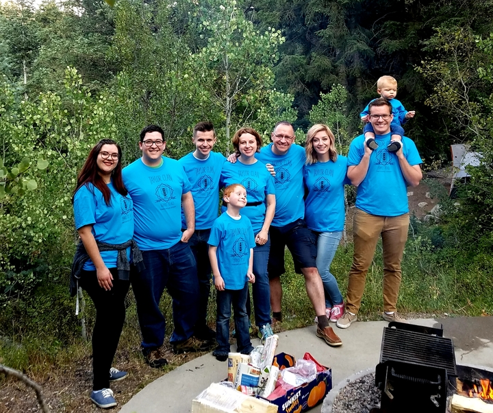 Taylor Clan In The Canyon T-Shirt Photo