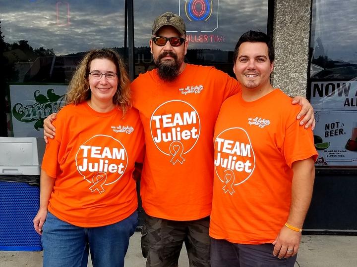 Team Juliet. Let's Beat Leukemia  T-Shirt Photo