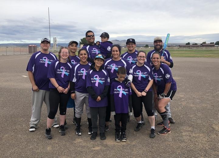 Team Q Man Softball For Epilepsy T-Shirt Photo
