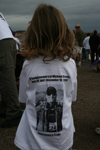 3 Year Old Audrey Racing For Pancreatic Cancer Cure T-Shirt Photo