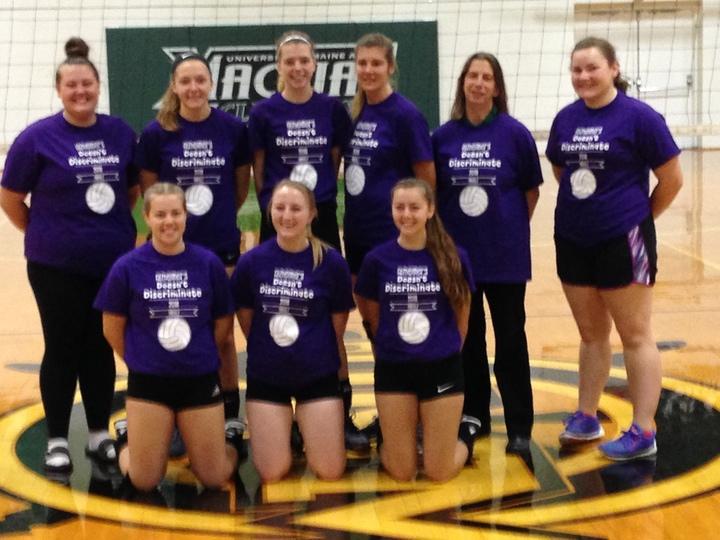 Umm  Volleyball Alzheimer's Fundraiser T-Shirt Photo