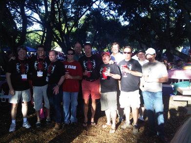 Tailgating At Chuck Taylor Grove T-Shirt Photo
