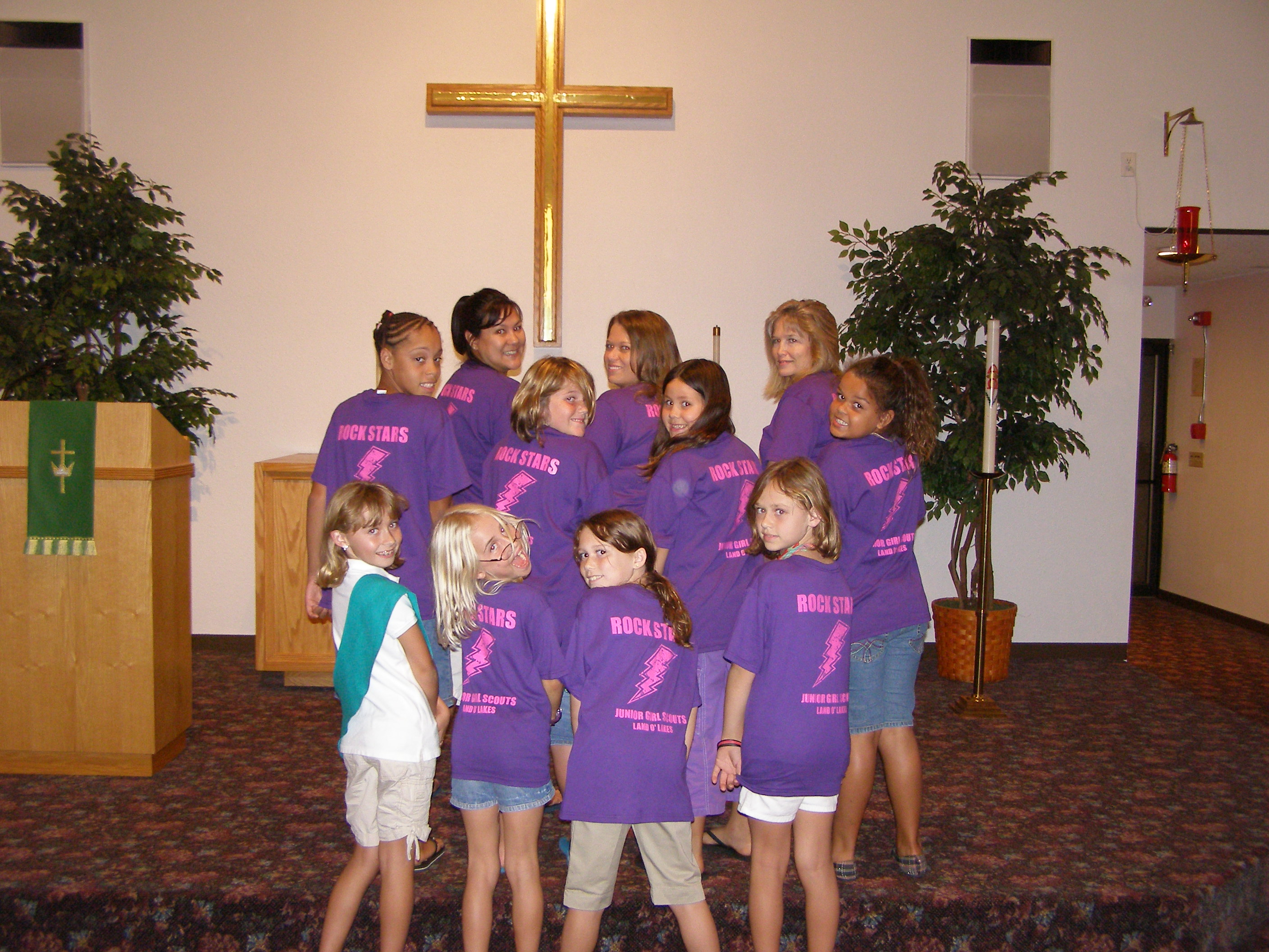 Custom t shirts for junior girl scout troop 75 land o for Girl scout troop shirts