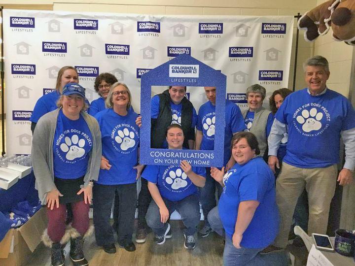 4b9ed2bf2 Charity Participant Teams T Shirts Blue Animal Adoption Paw Print T ...