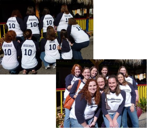 Make the best Sullivan Wedding Bridal Party custom t-shirts at Custom Ink.  See these photos and make your t-shirts
