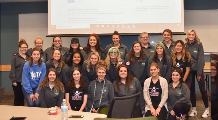 Ohio University's Ohio Women In Business Final Membership Meeting! T-Shirt Photo