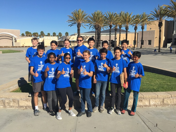 Marshall Middle School  (San Diego) At Our First Quiz Bowl Tournament 12/15/2018 T-Shirt Photo