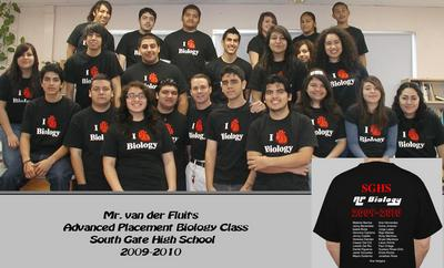 Mr. Van Der Fluit's Ap Biology Class T-Shirt Photo