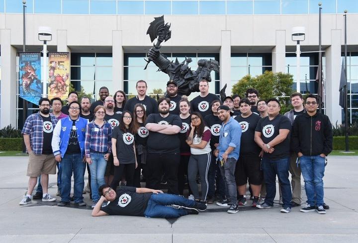 Blizzard Mecha Club Holiday Meet Up T-Shirt Photo