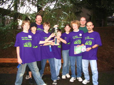 Purple Kiwis Win Award In Fll Robotics, Oregon T-Shirt Photo