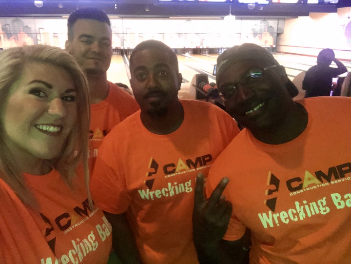 Camp Wrecking Ball Bowling Squad T-Shirt Photo