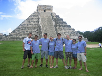 Croft Global Travel Group At Chichen Itza, Mexico T-Shirt Photo