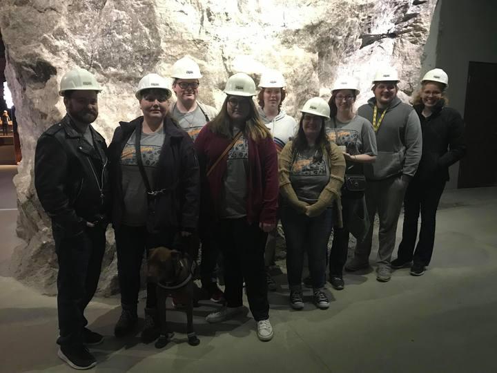 Wichita State's Anthropology Club At The Strataca Salt Mine Museum T-Shirt Photo