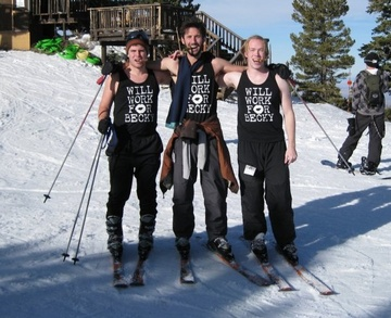Will Work For Becky  Tank Top Skiing T-Shirt Photo