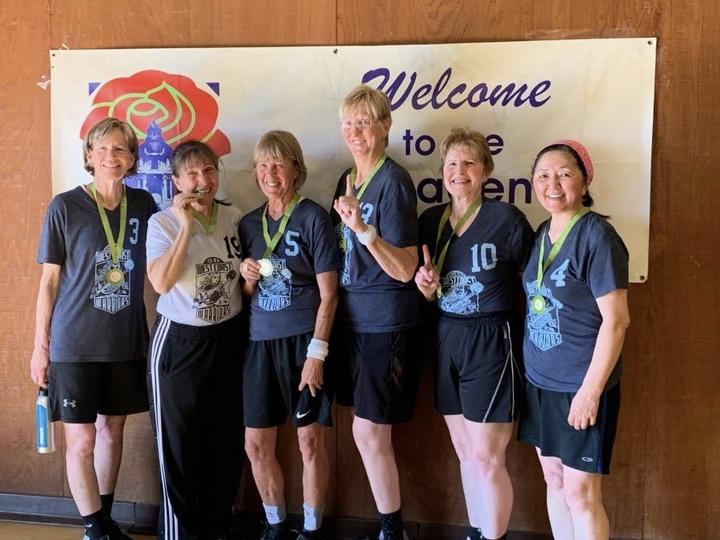 Gold Winners Ca Seniors Basketball Pasadena  T-Shirt Photo