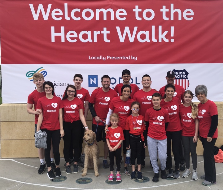Heart Walk For #Teamstef T-Shirt Photo