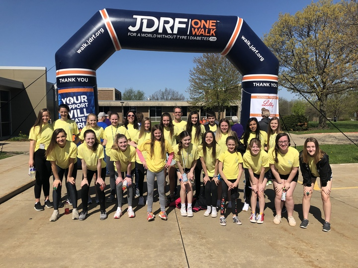 Team Grace Walking For A Cure For Type 1 Diabetes  T-Shirt Photo