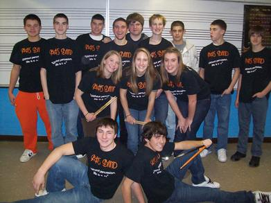 Middleborugh High School Band Percussion T-Shirt Photo