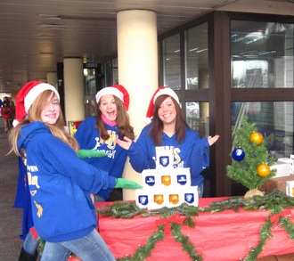 Wiesbaden H.S. Cheerleaders Selling Christmas Ornaments! T-Shirt Photo