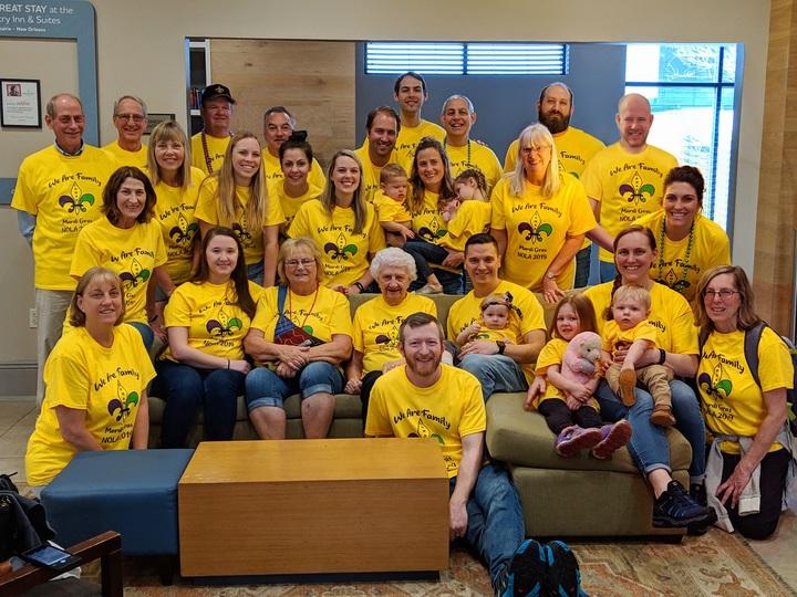 Lomas Family Reunion Mardi Gras T-Shirt Photo