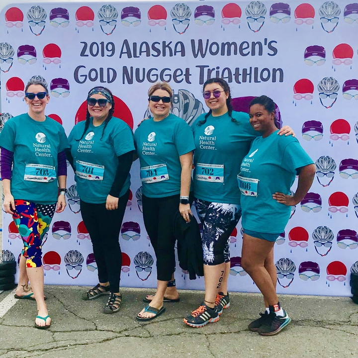 Team Naturally Golden Takes On The Gold Nugget Tri T-Shirt Photo